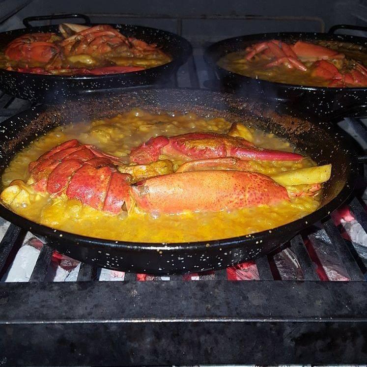 Pira cotture paella di pesce